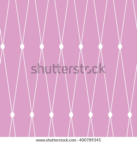 seamless background. White grid on the pink background - stock photo