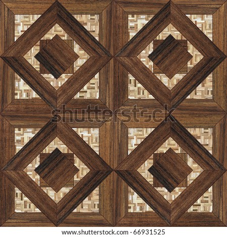 seamless background with a patterned wooden mosaic parquet - stock photo