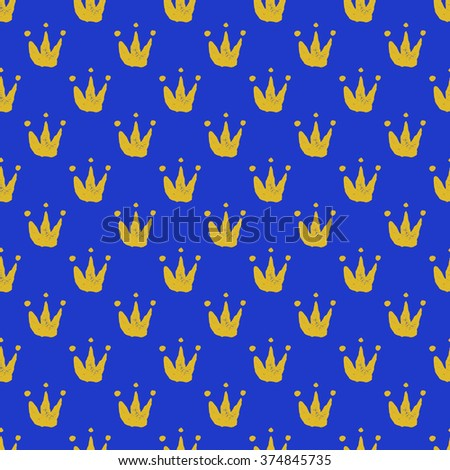 Seamless background with crown. Jpeg version.  - stock photo