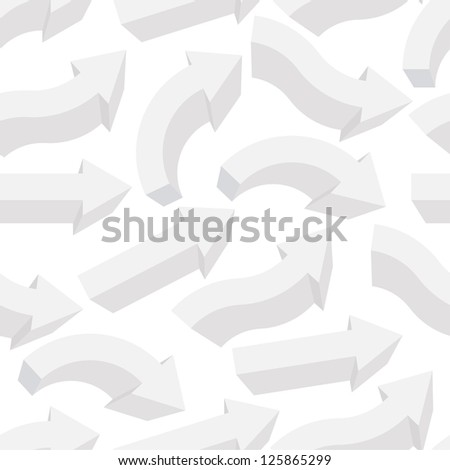 Seamless background with different arrows. Raster version, vector file available in portfolio. - stock photo