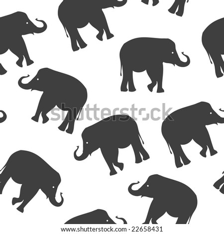 seamless background with elephant. Vector version is in my portfolio