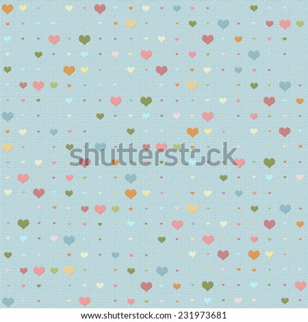 Seamless background with heart pattern with multicolored hearts - stock photo