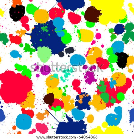 Seamless background with ink splats for your design, no meshes or gradients - stock photo