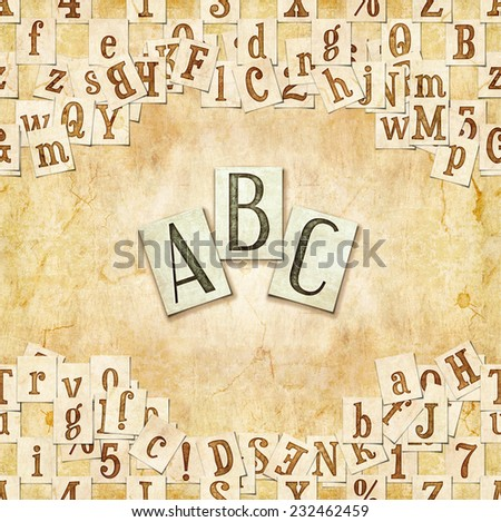 seamless background with letters .  - stock photo
