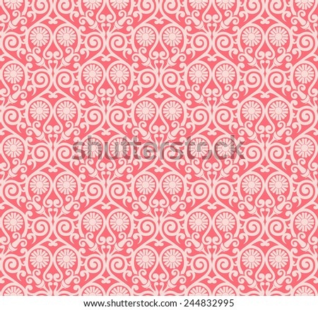 Vector background pink and white ornament graphic modern pattern