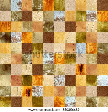 Seamless background with stucco patterns of different colors. Endless texture can be used for wallpaper, pattern fills, web page background, surface textures - stock photo