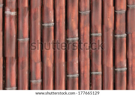 Seamless bamboo fence texture