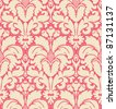 Seamless baroque style damask background:raster version - stock photo
