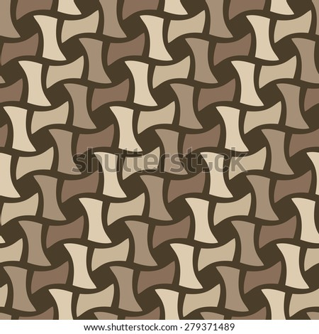 Seamless basket weave pattern with diagonal stripes. - stock photo