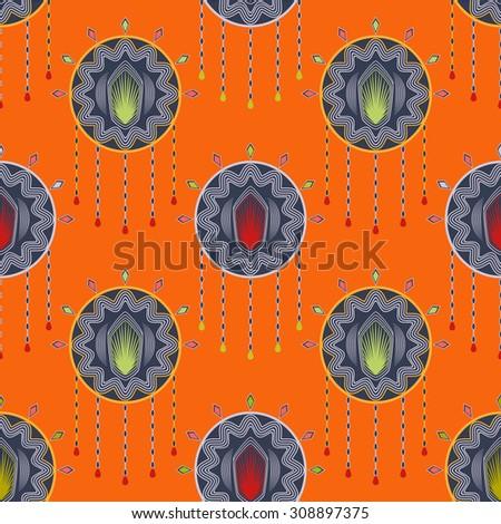 Seamless beautiful antique art deco pattern ornament. Geometric background design, repeating texture.  - stock photo