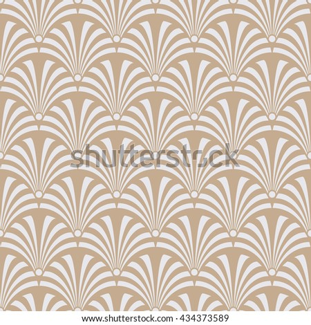 Seamless beige luxury art deco peacock textile pattern