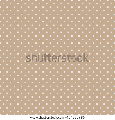 Seamless beige square polka dots pattern