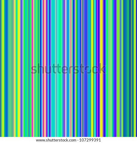Seamless bight green and blue bold color stripes abstract background. - stock photo