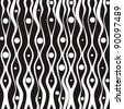 Seamless black abstract background. Strip pattern.  illustration. - stock photo
