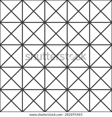 Seamless black and white crossed squares op art pattern