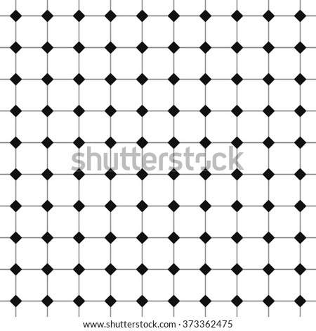 Seamless black and white floor. Modern stylish pattern. Repeating monochrome geometric background. - stock photo