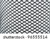 seamless black mesh on a white background - stock photo