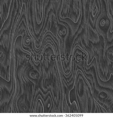 Seamless black wooden texure - stock photo