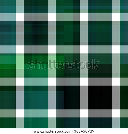 Seamless blue and green background of plaid pattern