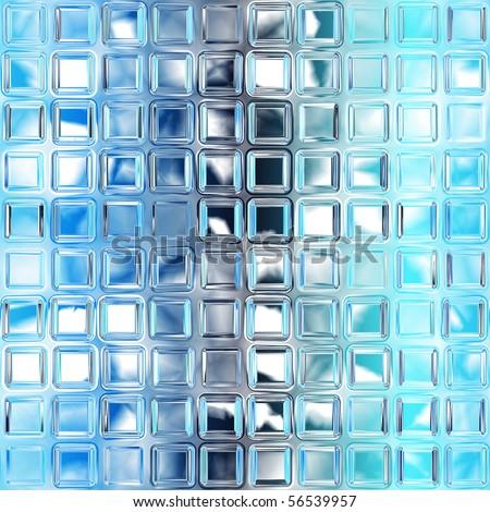 Seamless Blue Glass Tiles Texture Background Kitchen Or Bathroom