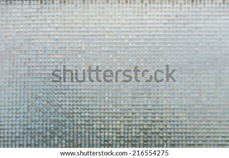 Seamless blue glass tiles texture background,window, kitchen or bathroom concept - stock photo