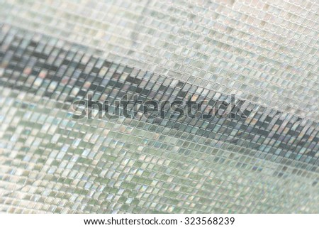 Seamless blue glass tiles texture background,window, kitchen or bathroom concept