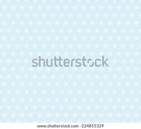 Seamless blue isometric stars pattern - stock photo
