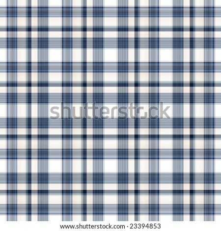 Seamless blue plaid background. - stock photo