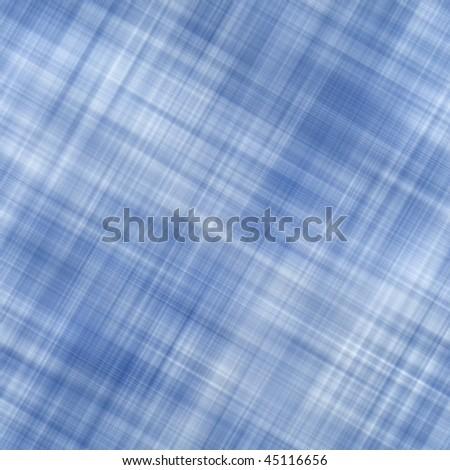 Seamless Blue Plaid Background - stock photo