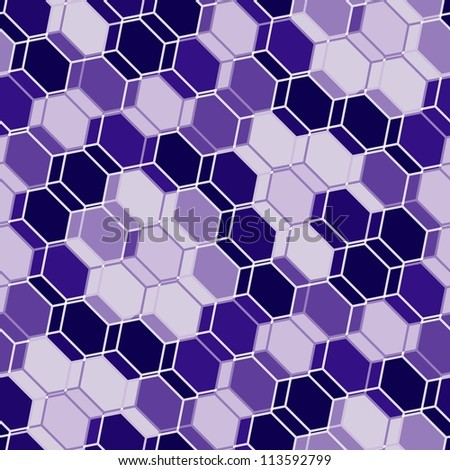 Seamless blue tile wallpaper. Also suitable as material pattern - stock photo