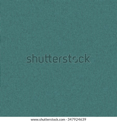 Seamless blue turquoise knitted wool texture for textile background
