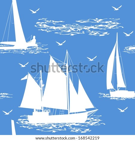 Seamless boat background