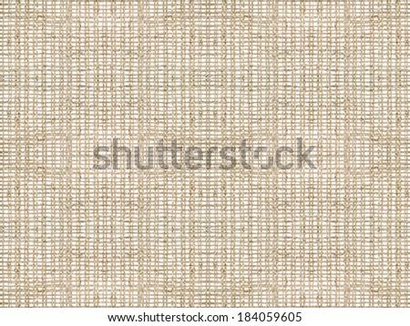 Seamless braided textile canvas, burlap, cloth background - stock photo
