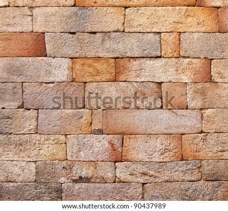 seamless bricks of an historic building QTAB Minar in Delhi - stock photo