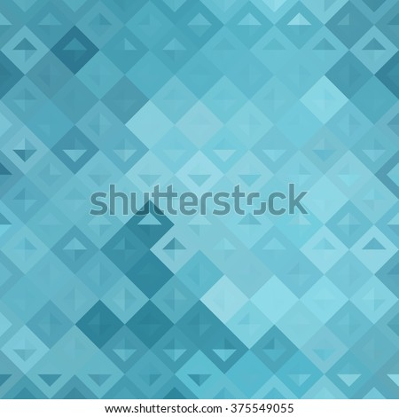 Seamless bright abstract mosaic blue background pattern with gloss