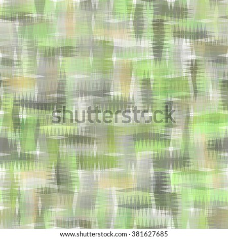 Seamless bright abstract mosaic green background pattern with gloss