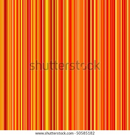Seamless bright orange and yellow colors vertical lines pattern background. - stock photo