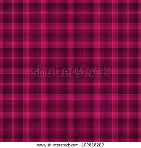 Seamless Bright Pink Plaid - stock photo