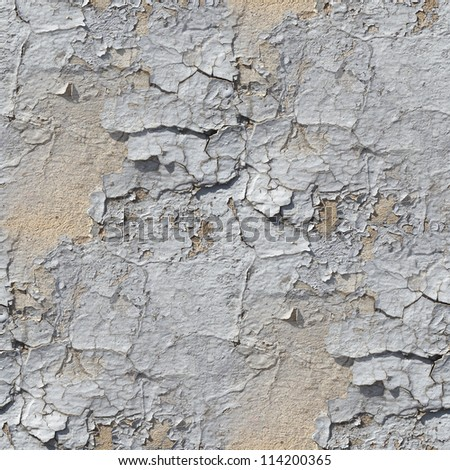 seamless broken wallpaper texture of old stone wall with a crack background - stock photo
