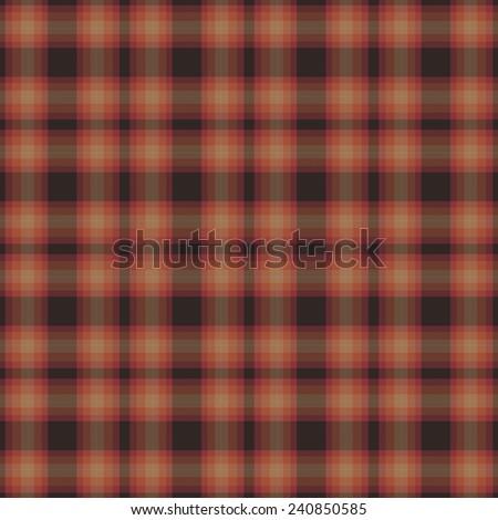 Seamless Brown Plaid Pattern - stock photo