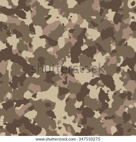 Seamless brown sandy fashion camouflage pattern - stock photo