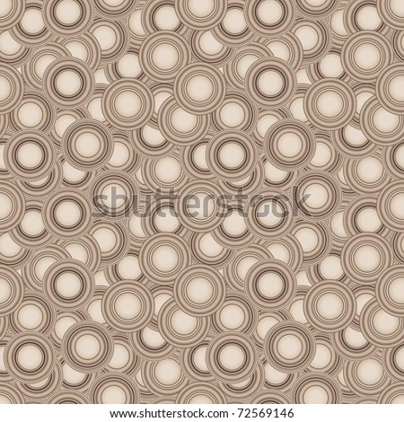 Seamless brown texture with circles. Vector version is in my portfolio