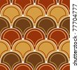 Seamless brown tile pattern - stock vector