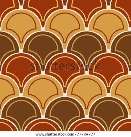 Seamless brown tile pattern - stock photo