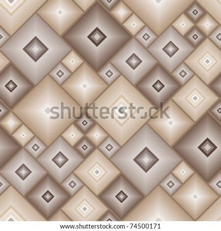 Seamless brown tile pattern. Vector version is in my portfolio - stock photo