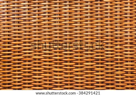 Seamless brown wood wicker basket texture as background, Asian handcraft concept - stock photo