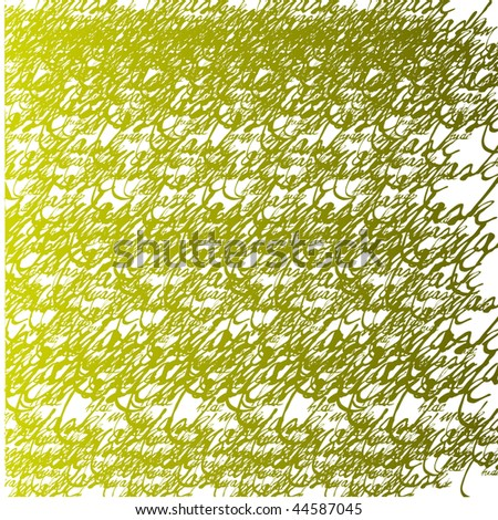 seamless calligraphic wallpaper - stock photo