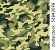 Seamless camouflage pattern (raster version) - stock photo