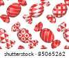seamless candies background - stock photo