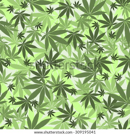 Seamless cannabis leaves pattern. Medical marijuana, legalize culture concept. - stock photo